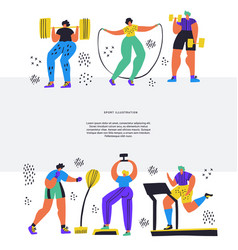 training workout hand drawn flat vector image