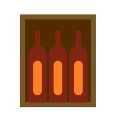 Wine box vector image