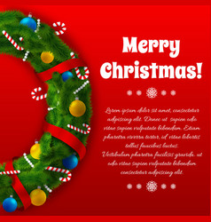 winter holidays greeting poster vector image