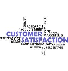 Word cloud customer satisfaction vector