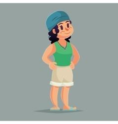 Cartoon girl character Funny vector image