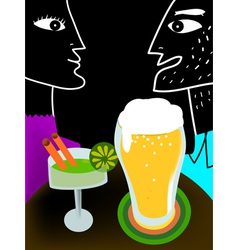 couple drinking vector image vector image