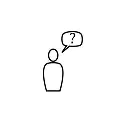 customer icon vector image vector image