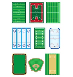 fields for sports games vector image