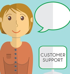 Flat design modern concept of customer support vector image vector image