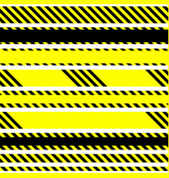 set of seamless tapes used by police for vector image