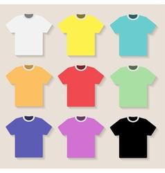 set of t shirts vector image