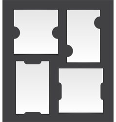 Cut corner template on grey background vector image vector image