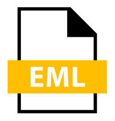 file name extension eml type vector image