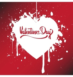 Red paper heart Valentines day card vector image vector image