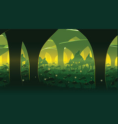 background of landscape with deep mushroom forest vector image vector image