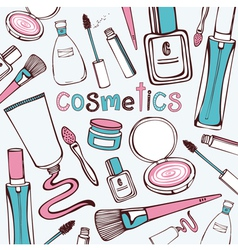 Beauty Cosmetics Pattern vector image vector image