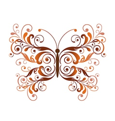 Floral butterfly design element vector image