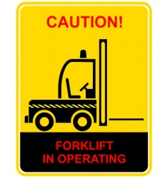 forklift sign vector image
