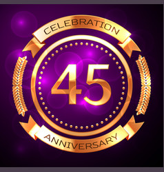 forty five years anniversary celebration with vector image vector image