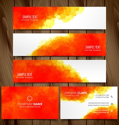 modern set of business cards and web headers vector image