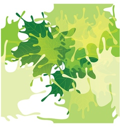 Seamless abstract leaves background vector image vector image