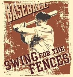 swing baseball vector image