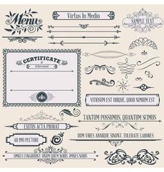 vintage calligraphic design vector image