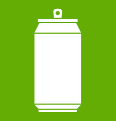 can icon green vector image