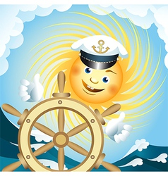 captain sun vector image vector image