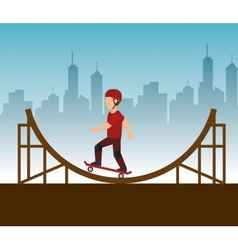 extreme sports skateboard design isolated vector image