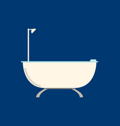 flat bathroom flat icon on blue background vector image vector image