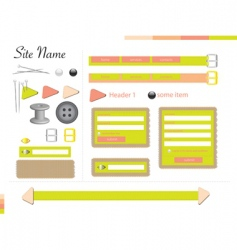 tailor web theme vector image vector image