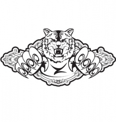 tiger attacks in frame vector image vector image
