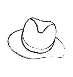 vintage male hat vector image vector image
