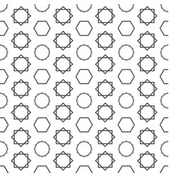 abstract hexagon overlap square circle pattern vec vector image