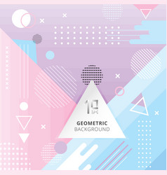 Abstract trendy geometric flat pattern pastel vector