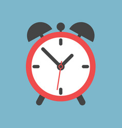 alarm clock icon flat design style simple icon on vector image