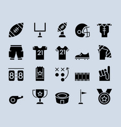 american football theme pictogram icon vector image