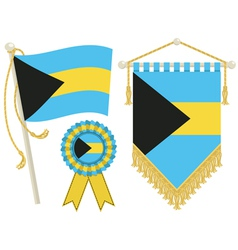 bahamas flags vector image