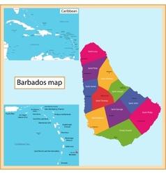 Barbados Map vector image