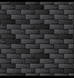 black brick wall background vector image