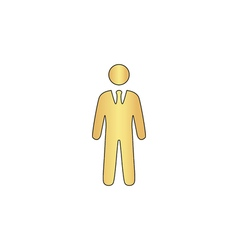 Businessman computer symbol vector image