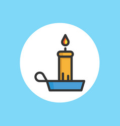 candle icon sign symbol vector image
