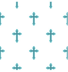 Christian cross pattern flat vector