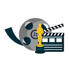 Cinema and movies entertainment vector