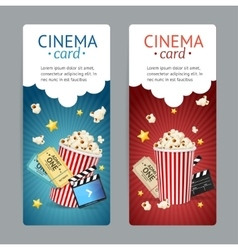 Cinema Movie Card Set vector image