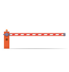 closed car barriers vector image