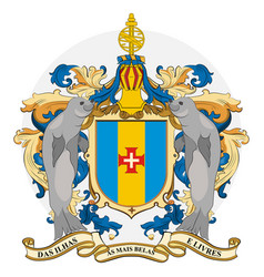 Coat arms madeira in portugal vector