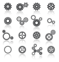 Cogs Wheels and Gears Icons Set vector