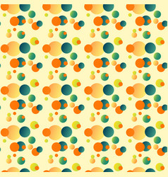 colorful seamless pattern with circles fabric vector image