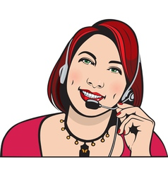 customer service representative vector image