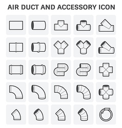 Duct pipe icon vector image
