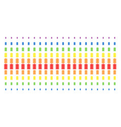Electric battery shape halftone spectral grid vector