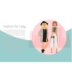 Fashion for ladies yound vector